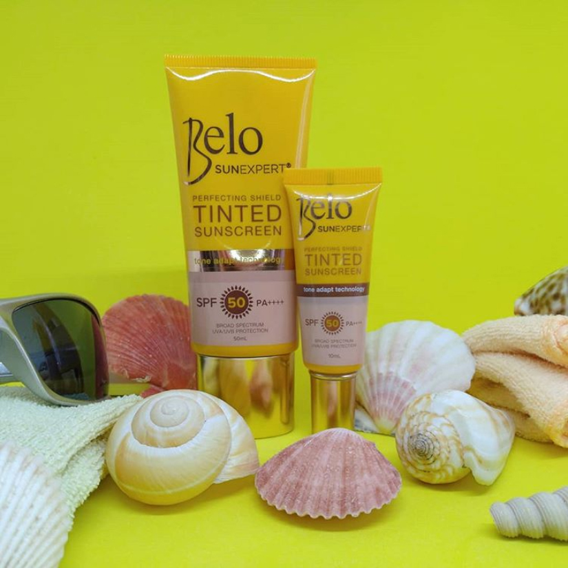Belo Sun Expert Perfecting Shield Tinted Sunscreen SPF 50 PA+++ || Product Review